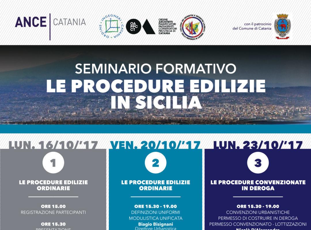 """Lavoro Ingegnere Edile Architetto Catania seminario formativo """"le procedure edilizie in sicilia"""